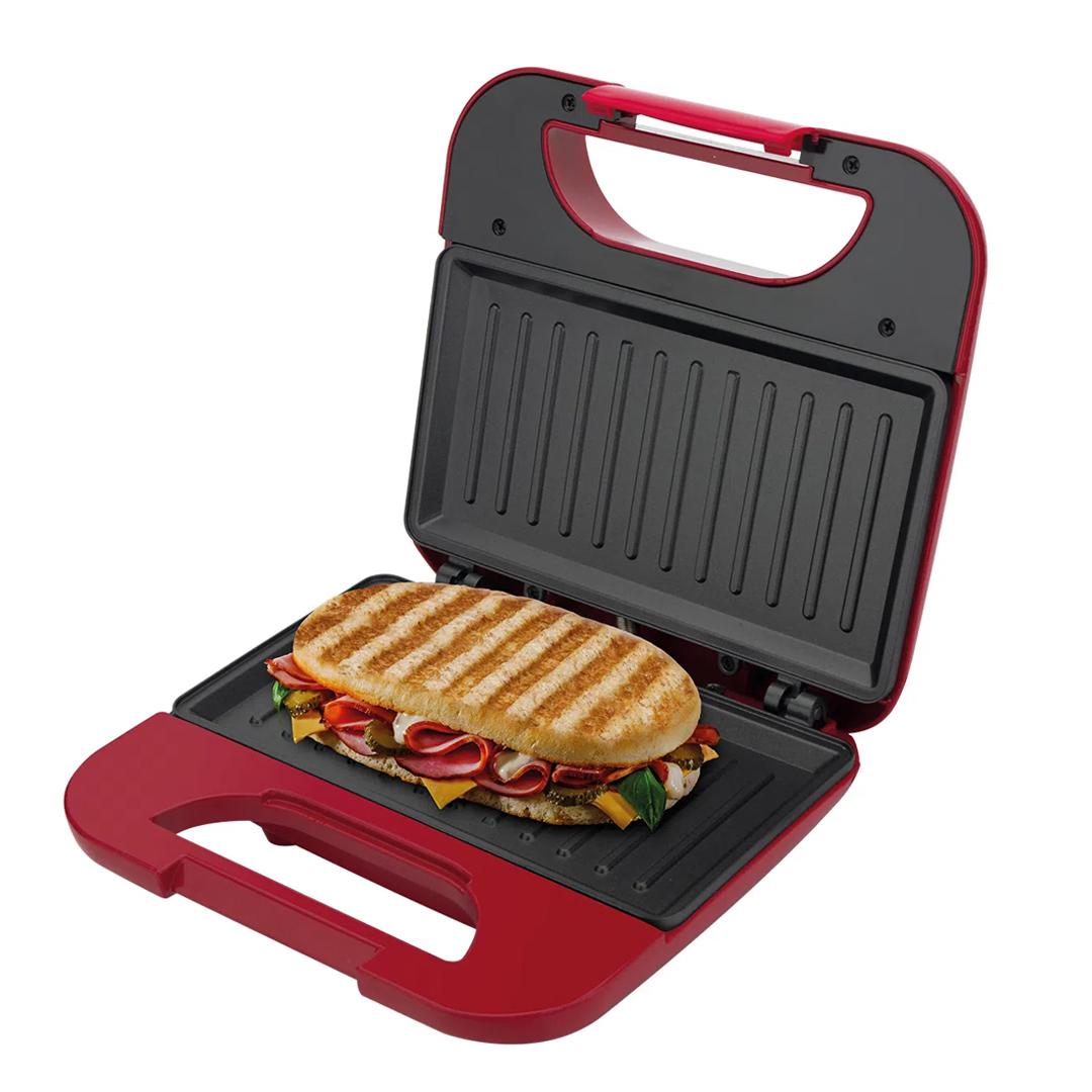 Sanduicheira e Grill Britânia Toast 2 em 1 BGR01V c/ Chapa Antiaderente Vermelha