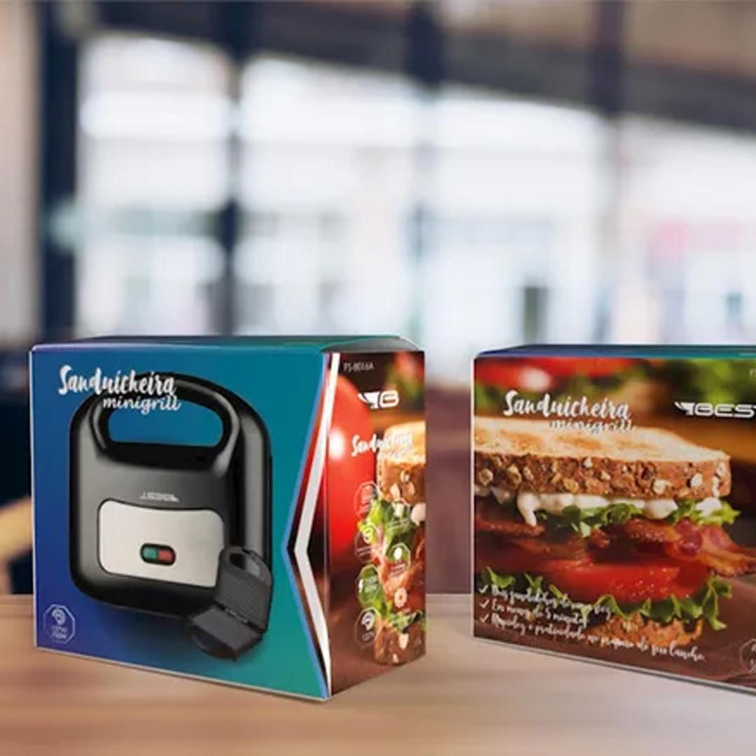Sanduicheira Mini Grill Antiaderente Best FS-8016A 750W