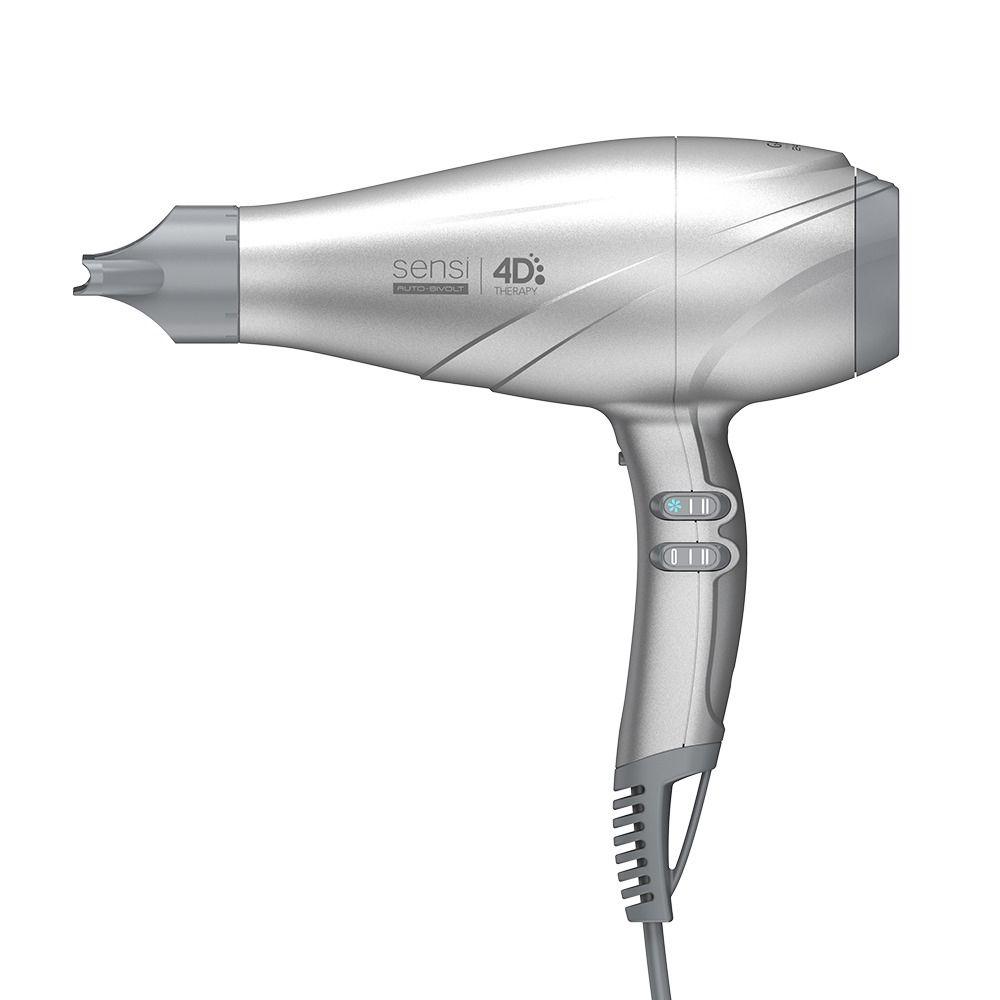 Secador de Cabelos Gama Italy Sensi 4D Therapy Profissional 2500W Prata Bivolt