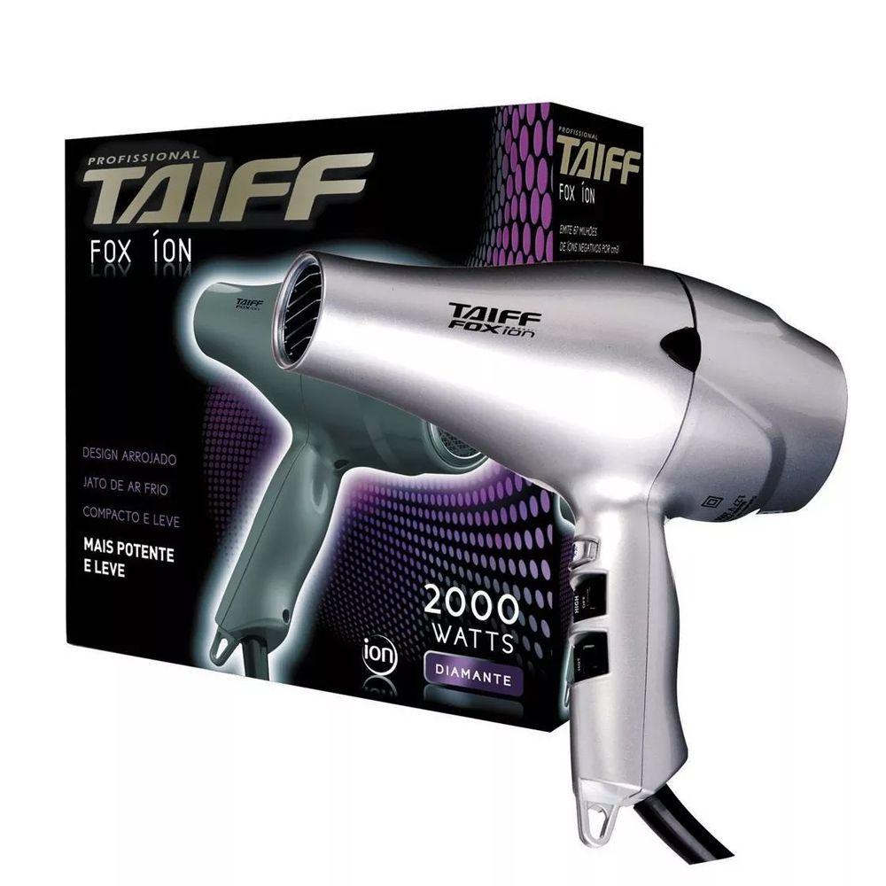 Secador de Cabelos Profissional Taiff Fox Ion Prata 2000W