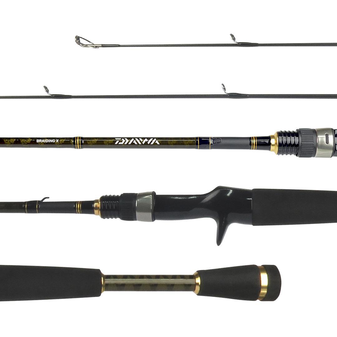 Vara para Pesca Carretilha Daiwa AIRD-X 581LXB-BR 1,73m 8-12 Libras Inteiriça