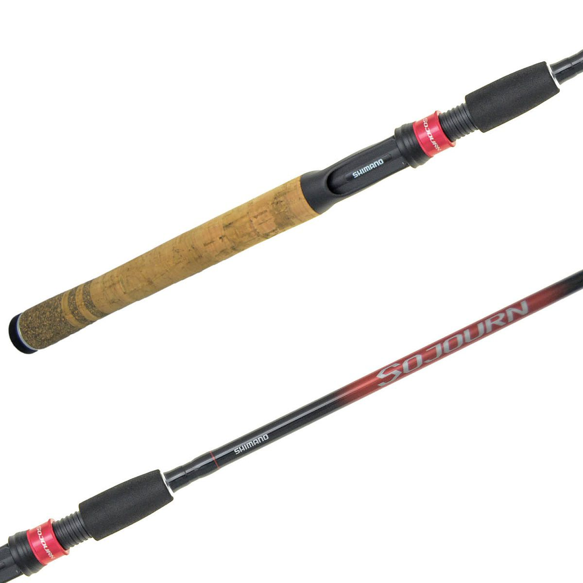 Vara Pesca Carretilha Shimano Sojourn SJC66M2B 1,98m 10-20 Lbs 2 Partes