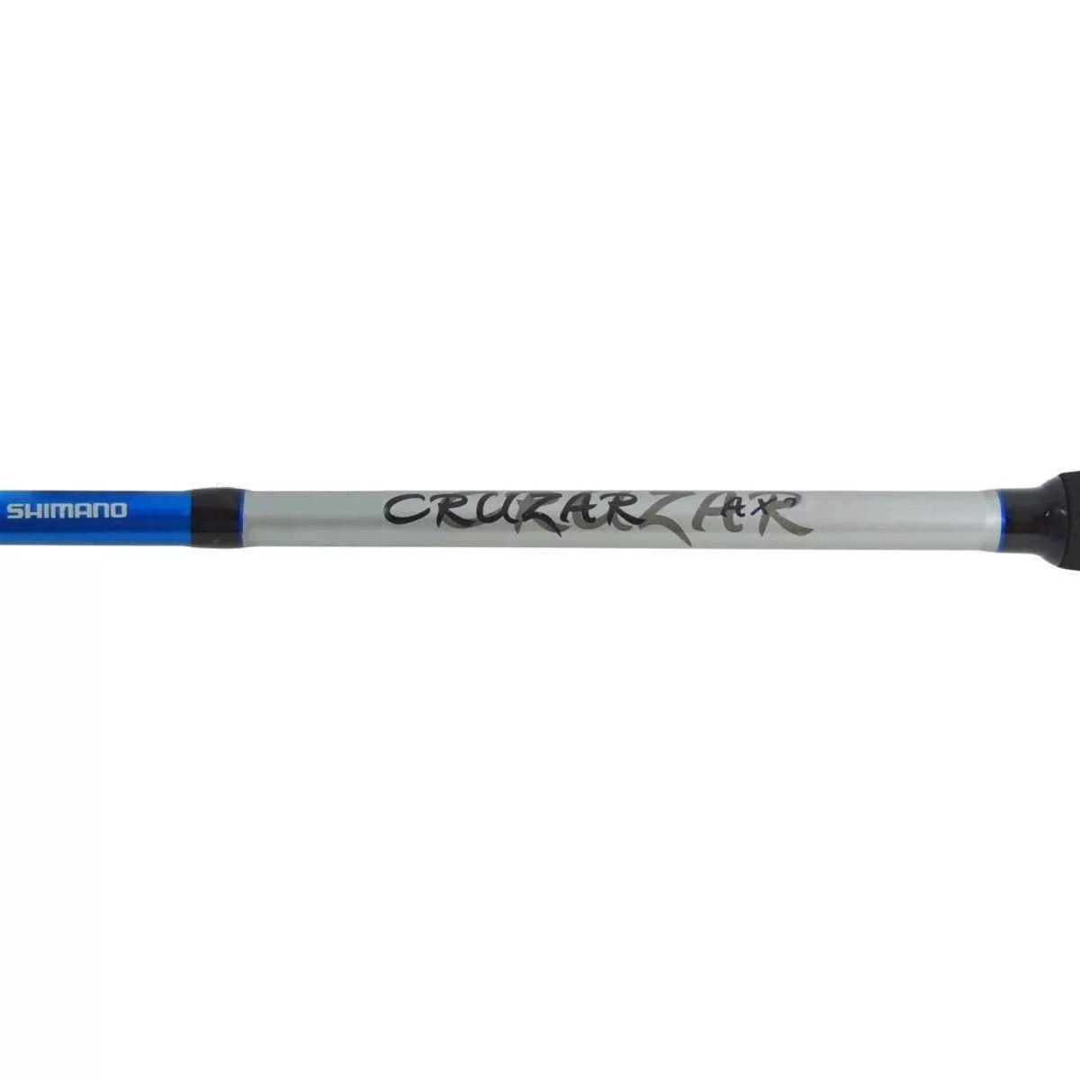 Vara Pesca Molinete Shimano Cruzar 2662 1,98m 10-20 Lbs 2 Partes Azul