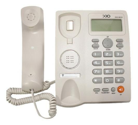 Aparelho Telefone Fixo Com Fio Identificador De Chamadas Bina Viva Voz