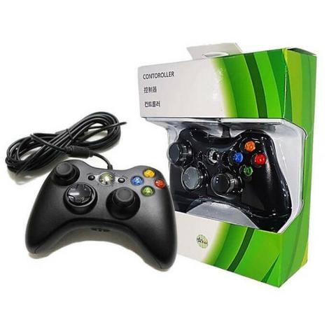 Controle Manete Com Fio Xbox 360 E Pc Slim Joystick