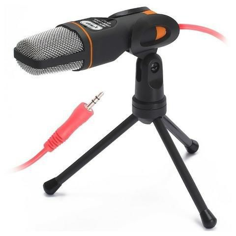 Microfone P2 Condensador KP-917 Com tripé Gravação Profissional Podcast