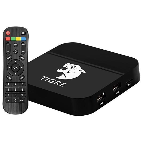 Receptor TV Box Tigre 2 4K Android IPTV Internet Wifi Canais Liberados
