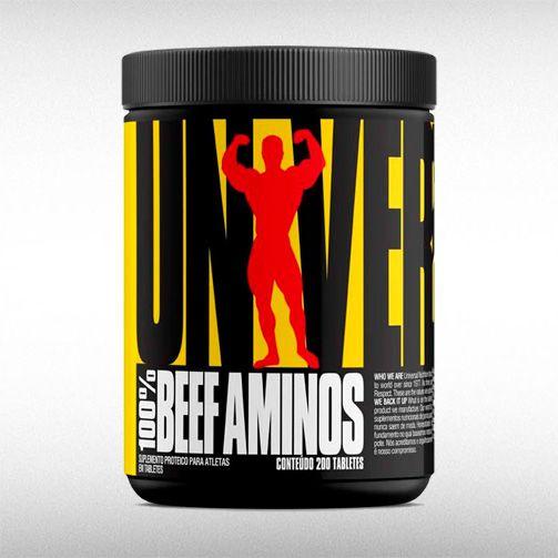 100% BEEF AMINOS (200TABS) - UNIVERSAL NUTRITION  - BRASILVITA