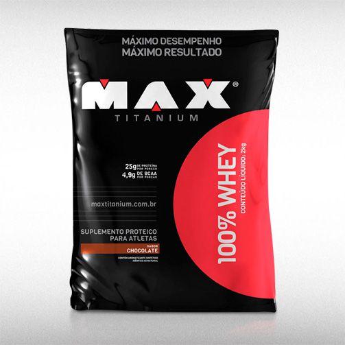 100% WHEY PROTEIN (REFIL 2KG) - MAX TITANIUM  - BRASILVITA