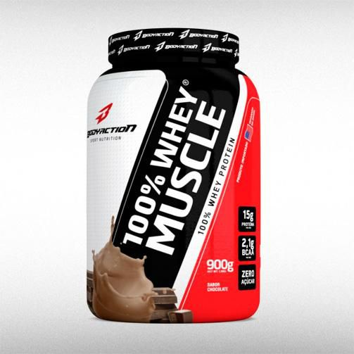 100% WHEY MUSCLE (900G) - BODYACTION - BRASILVITA