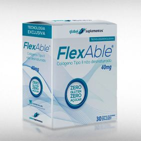 FLEXABLE COLÁGENO TIPO II 40 MG (60CAPS) - GLOBAL SUPLEMENTOS