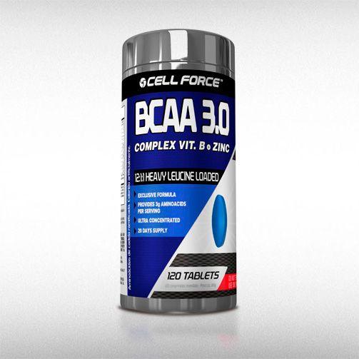 BCAA 3.0 12:1:1 (120TABS) - CELL FORCE  - BRASILVITA