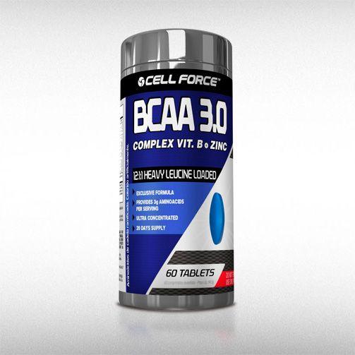 BCAA COMPLEX VIT. B + ZINC (60TABS) - CELL FORCE  - BRASILVITA