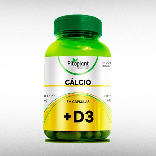 CALCIO D3 1100MG (60CAPS) - FITOPLANT  - BRASILVITA