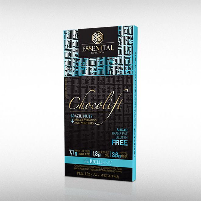CHOCOLIFT BE BRILLIANT (40G) BRAZIL NUTS - ESSENTIAL  - BRASILVITA