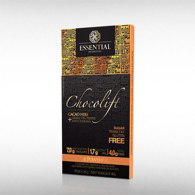 CHOCOLIFT BE POWERFULL (40G) CACAO NIBS - ESSENTIAL  - BRASILVITA