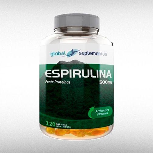 ESPIRULINA 500 MG (120CAPS) - GLOBAL SUPLEMENTOS  - BRASILVITA