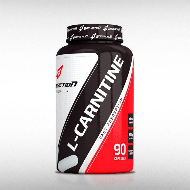 L-CARNITINE 500MG (90CAPS) - BODYACTION  - BRASILVITA