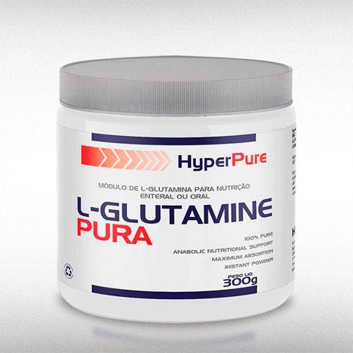 L-GLUTAMINE PURA (300G) - HYPERPURE  - BRASILVITA