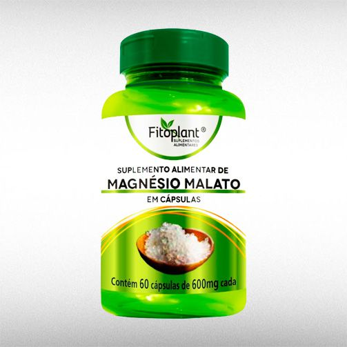 MAGNESIO MALATO 600MG (60CAPS)- FITOPLANT  - BRASILVITA