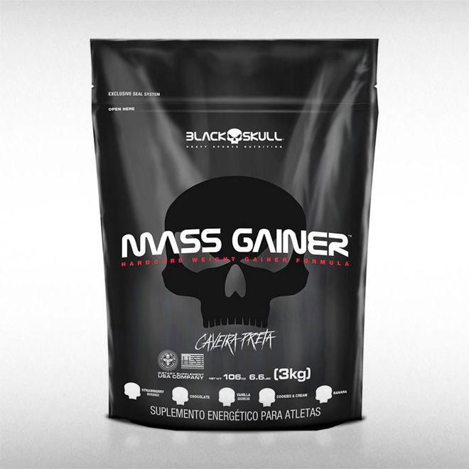 MASS GAINER (REFIL 3KG) - BLACK SKULL  - BRASILVITA