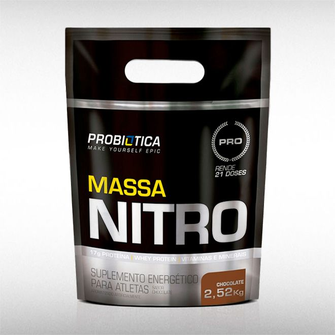 MASSA NITRO NO2 CHOCOLATE REFIL( 2,52KG) - PROBIÓTICA  - BRASILVITA