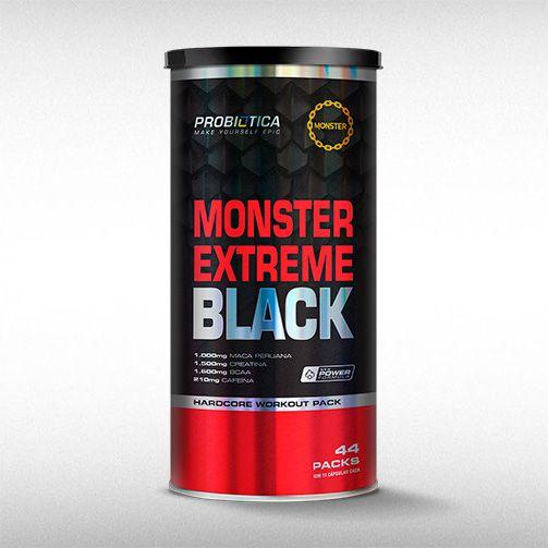 MONSTER EXTREME BLACK ( 44PACKS) - PROBIÓTICA  - BRASILVITA