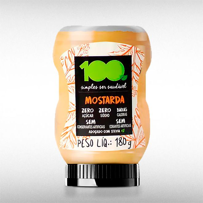 MOSTARDA (190G) -100 FOODS  - BRASILVITA