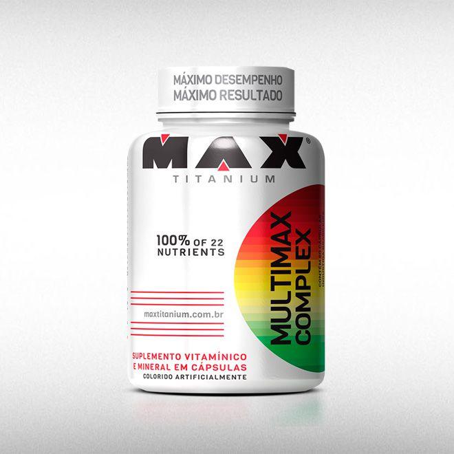 MULTIMAX COMPLEX (90CAPS) - MAX TITANIUM  - BRASILVITA