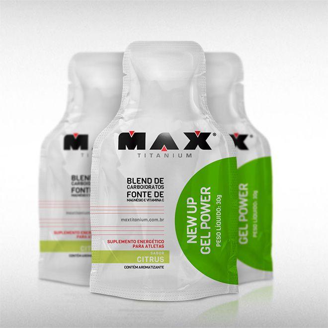 NEW UP GEL POWER (SACHÊ DE 30G) - MAX TITANIUM  - BRASILVITA