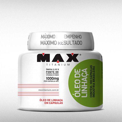 OLEO DE LINHAÇA (100CAPS) - MAX TITANIUM  - BRASILVITA