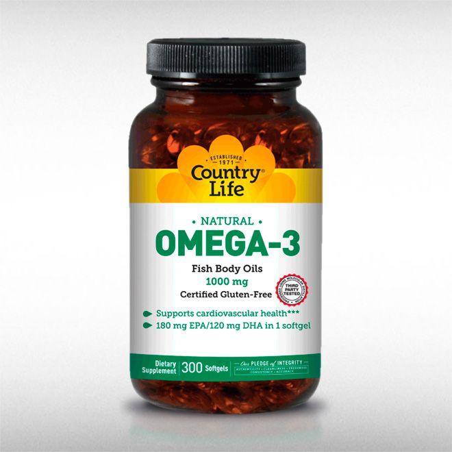 OMEGA 3 FISH OIL (300SOFTGELS) - COUNTRY LIFE  - BRASILVITA
