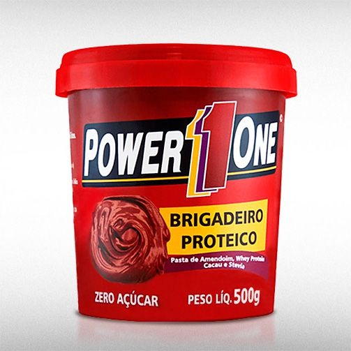 PASTA DE AMENDOIM BRIGADEIRO PROTEICO (500G) - POWER1ONE  - BRASILVITA