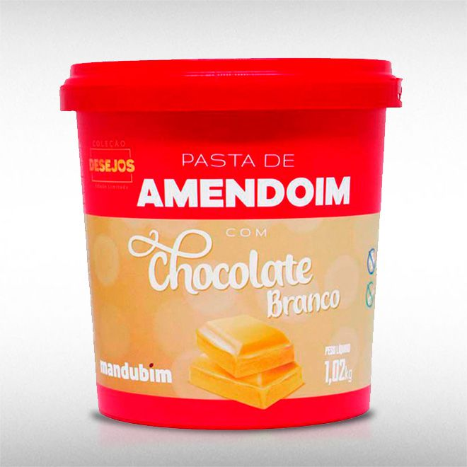 PASTA DE AMENDOIM CHOCOLATE BRANCO (1,02KG) - MANDUBIM  - BRASILVITA