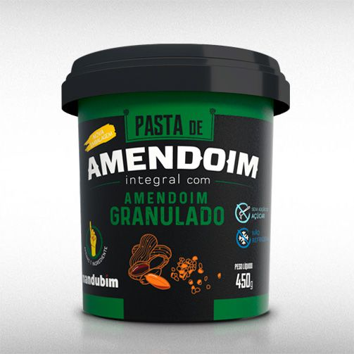 PASTA DE AMENDOIM GRANULADO (450G) - MANDUBIM  - BRASILVITA