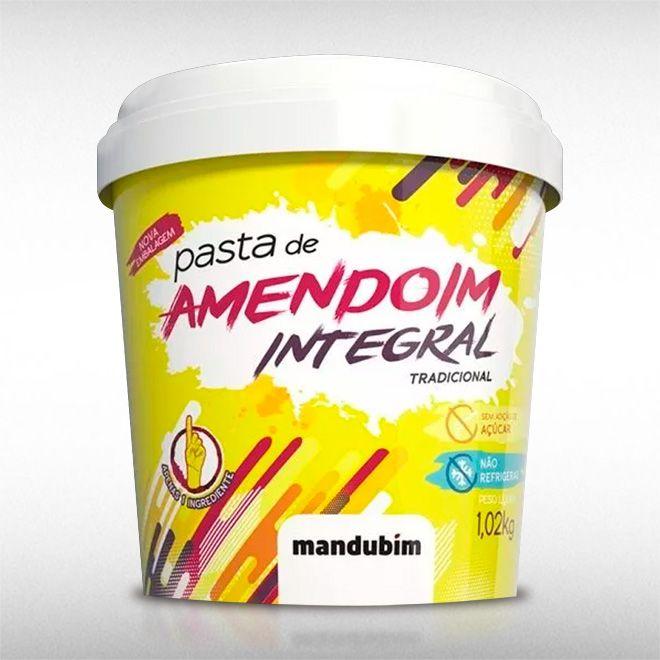 PASTA DE AMENDOIM INTEGRAL (1KG) - MANDUBIM  - BRASILVITA