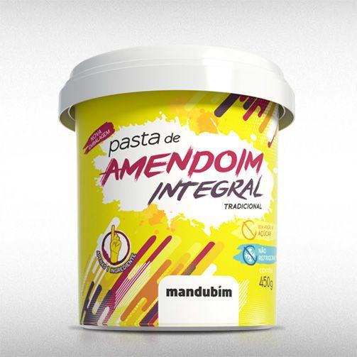 PASTA DE AMENDOIM INTEGRAL (450G) - MANDUBIM  - BRASILVITA