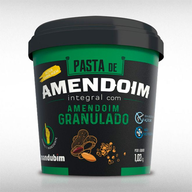 PASTA DE AMENDOIM INTEGRAL GRANULADO (1KG) - MANDUBIM  - BRASILVITA