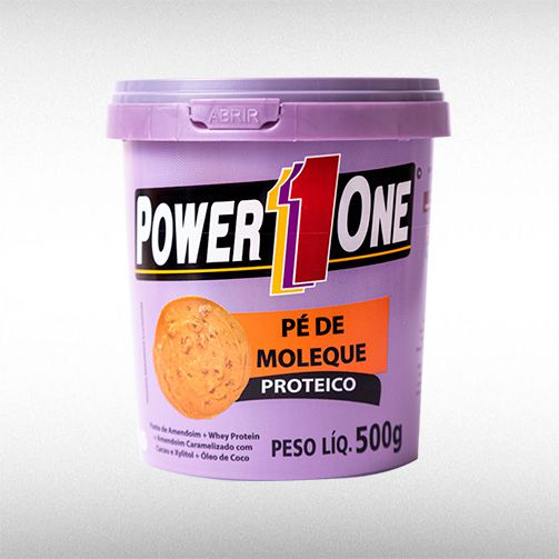 PÉ DE MOLEQUE PROTEICO (500G) - POWER1ONE  - BRASILVITA