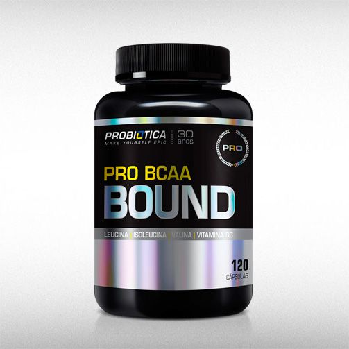 PRO BCAA BOUND (120CAPS) - PROBIÓTICA  - BRASILVITA