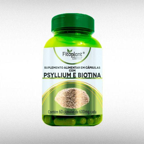 PSYLLIUM E BIOTINA 600MG (60CAPS) - FITOPLANT  - BRASILVITA