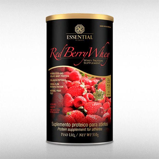 RED BERRY WHEY (510G) - ESSENTIAL  - BRASILVITA
