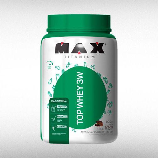 TOP WHEY 3W MAIS NATURAL (900G) - MAX TITANIUM  - BRASILVITA
