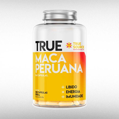TRUE MACA PERUANA 500MG (120CAPS) - TRUE SOURCE  - BRASILVITA