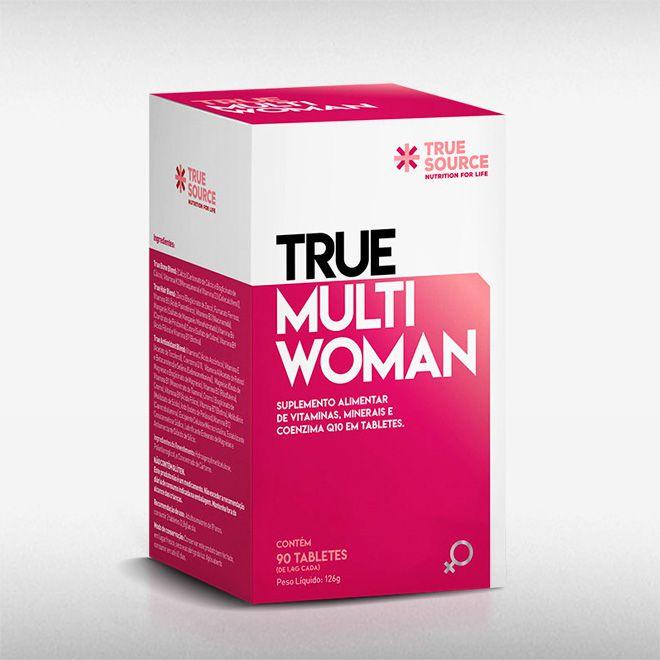 TRUE MULTIWOMAN MULTIVITAMÍNICO (90TABS) - TRUE SOURCE  - BRASILVITA
