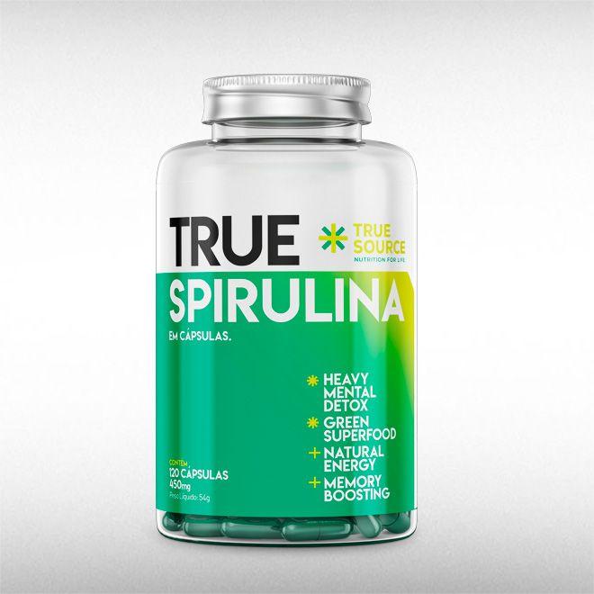 TRUE SPIRULINA 450MG (120CAPS) - TRUE SOURCE  - BRASILVITA