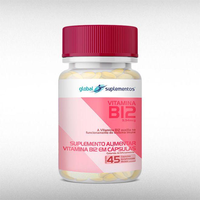 VITAMINA B12 9,94 MCG (45CAPS) - GLOBAL SUPLEMENTOS  - BRASILVITA