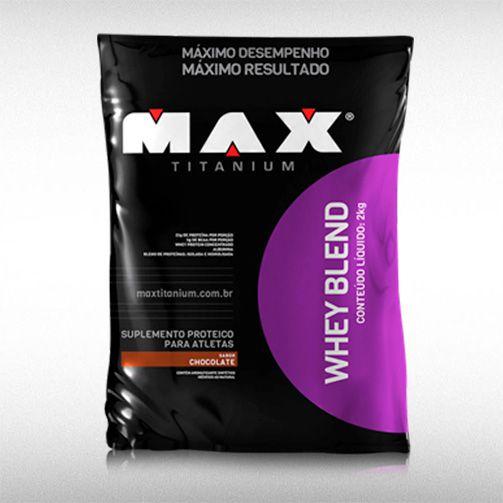 WHEY BLEND (REFIL 2KG) - MAX TITANIUM  - BRASILVITA