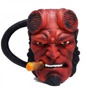 Caneca Resina Inox 3d Hellboy