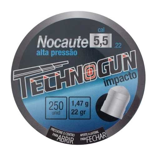 Chumbinho Nocaute Technogun 5.5mm 250un